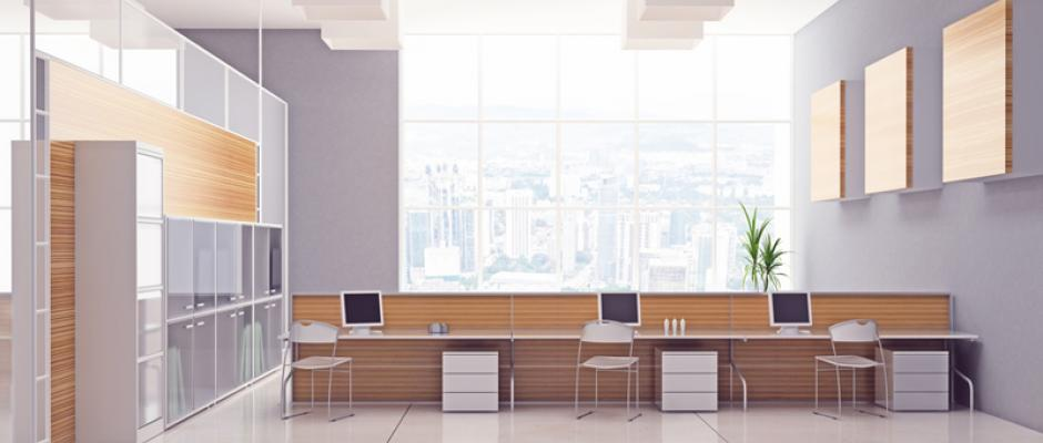 Decoración de interiores para reflejar la imagen de una empresa ...