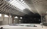 Pintura intumescente en Madrid - estructura interior nave- Pinturas Cobalto