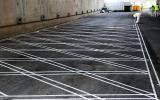 Pintura de suelos en Madrid - marcas transversales - Pinturas Cobalto