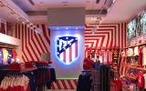 Pinturas especiales en Madrid - rayas tienda Atletico de Madrid - Pinturas Cobalto