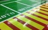 Señalización vial en Madrid - Plazas moto Gran Plaza 2- Pinturas Cobalto