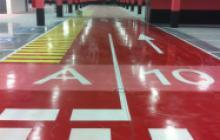 Pintura de suelos en Madrid - señalización parking - Pinturas Cobalto