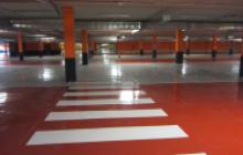 Pinturas en Madrid - paso peatones parking - Pinturas Cobalto