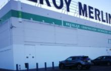 Servicios de pintura para empresas en Madrid - fachada Leroy Merlin -  Pinturas Cobalto