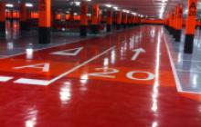 Señalización vial en Madrid - Parking CC Gran Plaza 2- Pinturas Cobalto