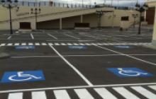 Señalización vial en Madrid - Parking exterior Gran Plaza 2 - Pinturas Cobalto
