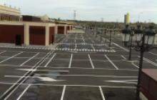 Señalización vial en Madrid - Exterior Gran Plaza 2- Pinturas Cobalto