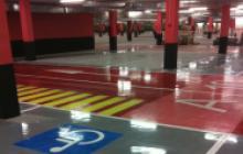 Señalización vial en Madrid - Parking Gran Plaza 2- Pinturas Cobalto