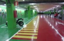 Señalización vial en Madrid - Delimitación zonas Gran Plaza 2- Pinturas Cobalto