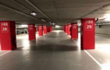 Señalización vial en Madrid - rotulación columnas - Pinturas Cobalto