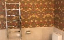 Papeles decorativos en Madrid - baño clasico- Pinturas Cobalto