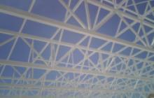 Pintura intumescente en Madrid - estructura nave - Pinturas Cobalto